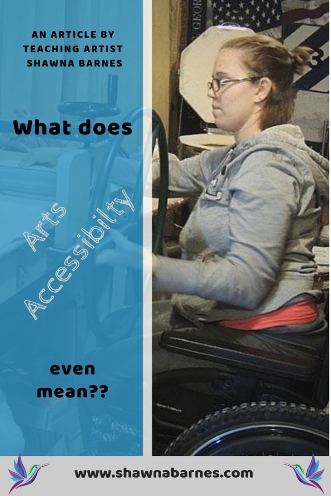 Infographic of adult woman sitting in a wheelchair at a slabroller with text overlay. Text overlay is title of the blog post.