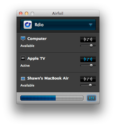 Airfoil Mac App works great with Rdio