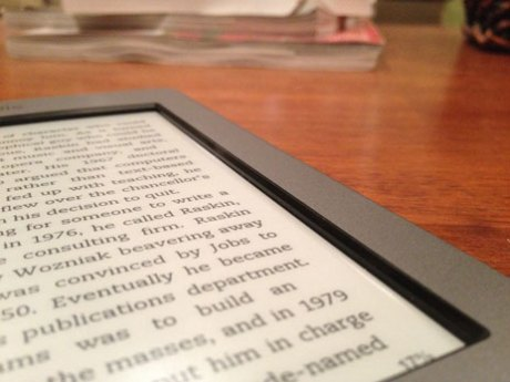 The Kindle Touch screen bezel