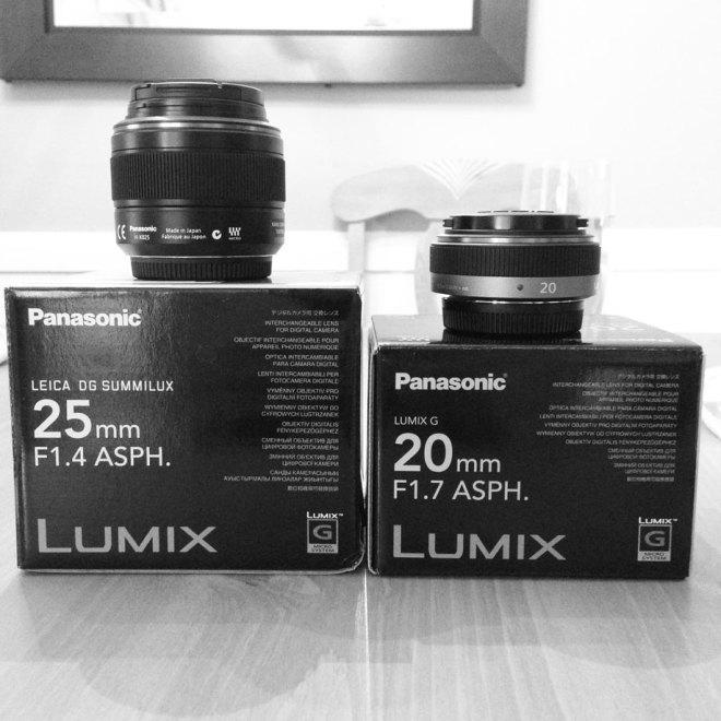 Panasonic 25mm and 20mm lenses