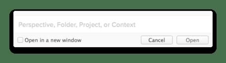 OmniFocus 2 for mac - Quick Open