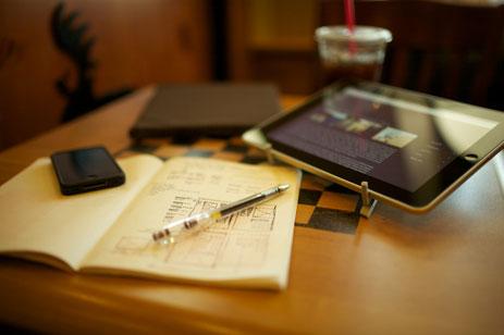 John Carey's Sketchbook and iPad