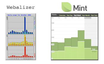 Mint UI versus the Webalizer UI