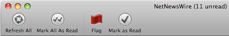 NetNewsWire 3.1's new Toolbar Look