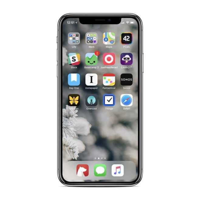 iPhone X Home screen Shawn Blanc