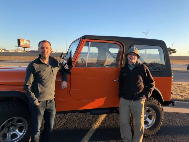 Picking up the Jeep CJ-7 in Wichita