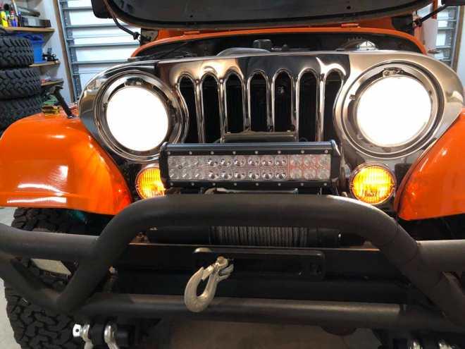 Jeep CJ-7 headlight and parking light installation