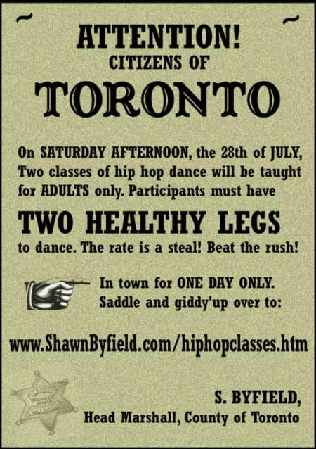 Adult hip hop dance poster