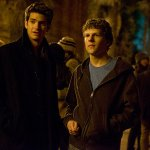 Andrew Garfield and Jesse Eisenberg Social Network movie scene