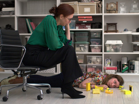 Laurie Simmons and Lena Dunham in Tiny Furniture.