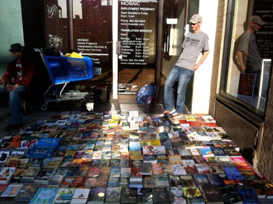 guy selling sci-fi paperbacks on Commercial Drive
