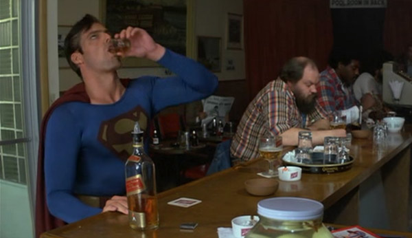 Sad Superman—day-drinking with the world's most powerful man