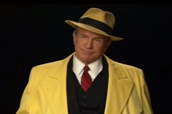 That time Warren Beatty dressed up as Dick Tracy to be interviewed by Leonard Maltin...