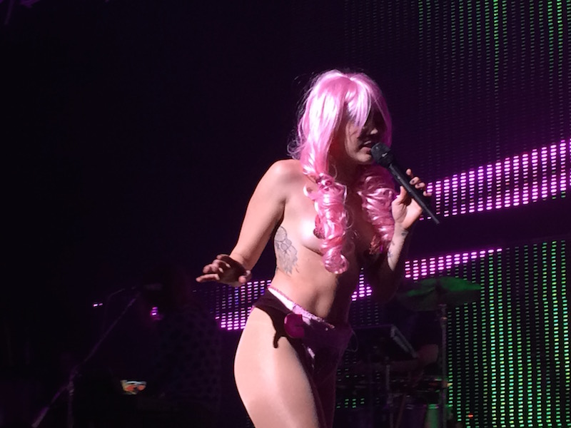 Miley Cyrus and Her Dead Petz at the Queen Elizabeth Theatre, Vancouver, Dec.14 2015.