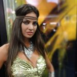 Girl dressed for Conan the Barbarian booth at the 2011 San Diego Comic-Con July 21 2011