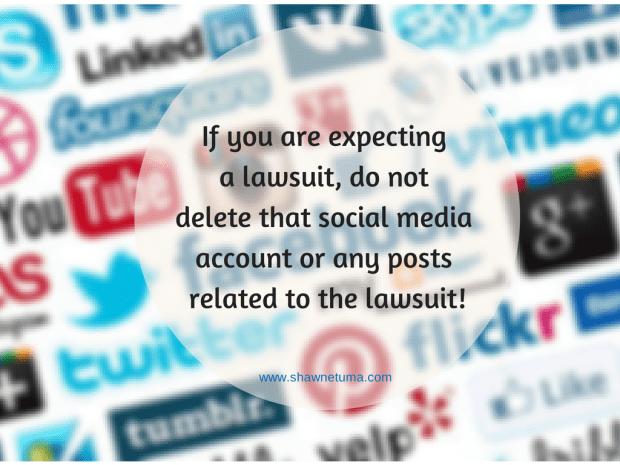 Social Media Evidence Spoliation