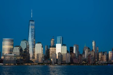 New York Skyline at Twilight Hour