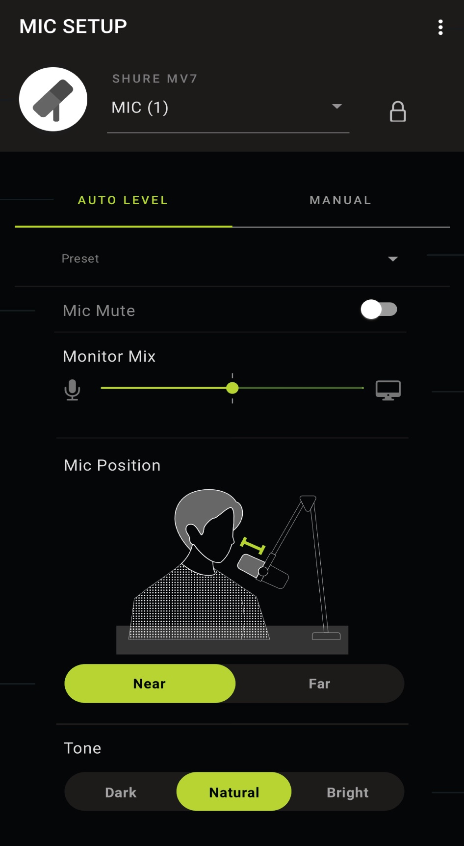 MOTIV Auto Level Mode