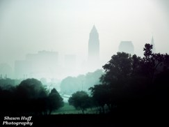 Fog over Downtown Cleveland