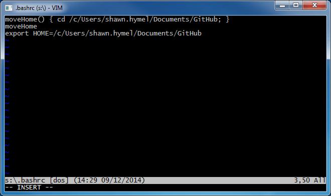 Adding .bashrc to Git Bash