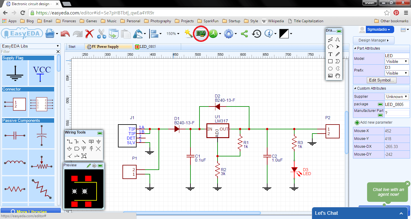 Getting Started With Easyeda Part 3 Pcb Layout How To Build A Circuit Board Enter Image Description Here