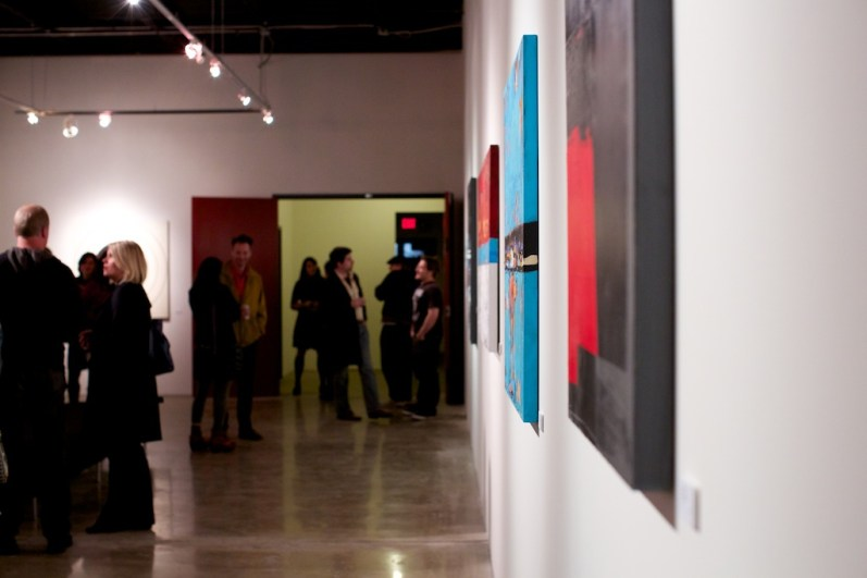 abstract art wall gallery show