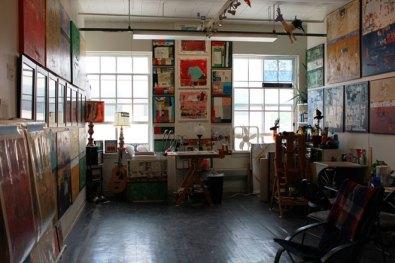 art studio interior wide shot