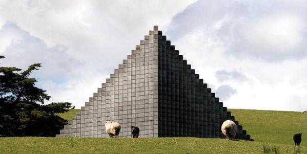 sheep sol lewitt pyramid sculpture gibbs farm