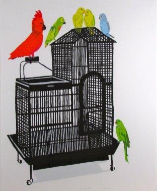Jonas Wood Bird Cage Print Art