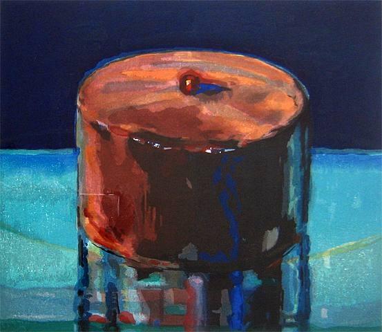 Wayne Thiebaud Dark Cake Woodcut