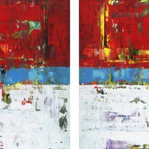 Folly Beach South Carolina Red Abstract Art