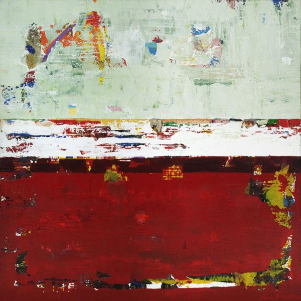Helium Red Green Contemporary Painting