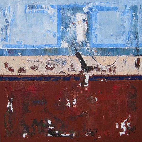Joshua Blue Brown Modern Abstract