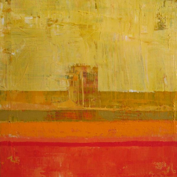 Mantle Yellow Orange Abstract Expressionism