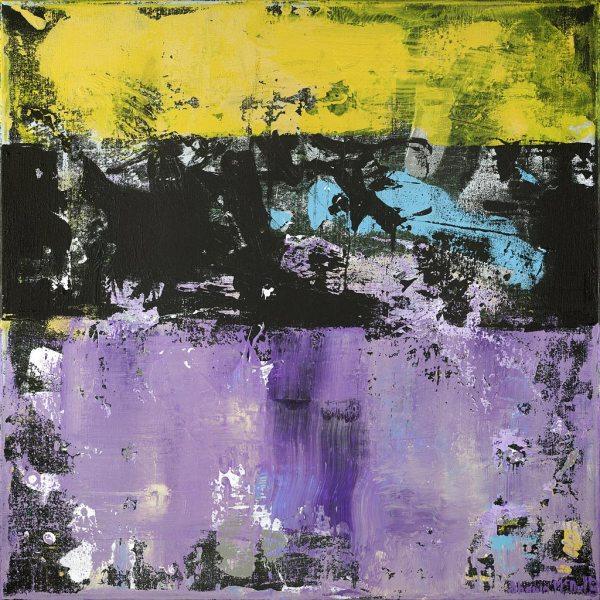 Chuck Foreman Vikings Purple Abstract Painting