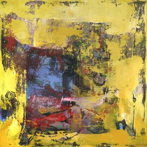 Gypsum Rock Yellow Contemporary Painting