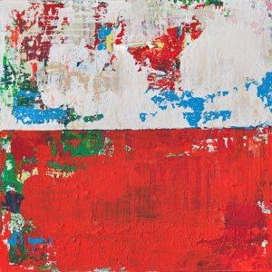 Kismet Yacht Red Modern Landscape Art