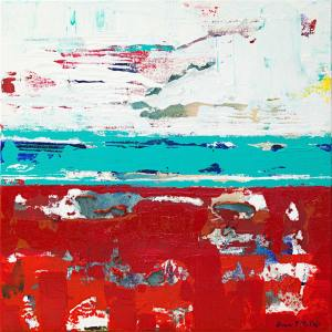 California Malibu Ca Weather Abstract Painting