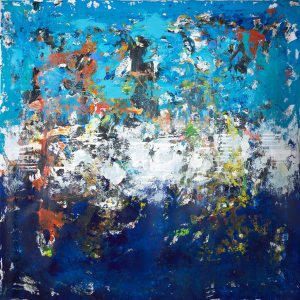 Limbo Unstretched Giant Modern Blue Painting