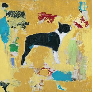 Boston Terrier Abstract Art Print Painting