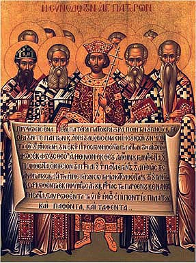 Holy Icon of the First Ecumenical Council in Nicaea, 325 AD