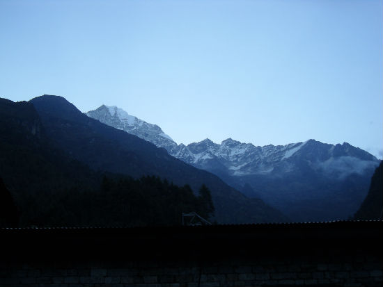 Beautiful view of the Himalayas
