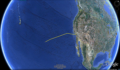 Google Earth Flight Tracking