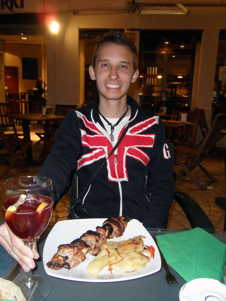 Eating a Spanish Meal