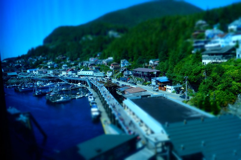 View of the port of Ketchikan