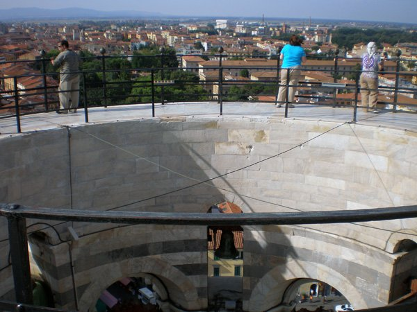 Reaching the top of Pisa
