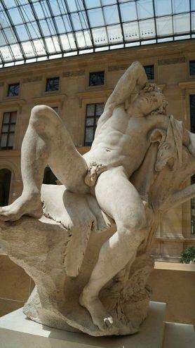 Paris France - At Musee d'Orsay with naked men
