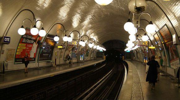 Paris France - Inside the Metro