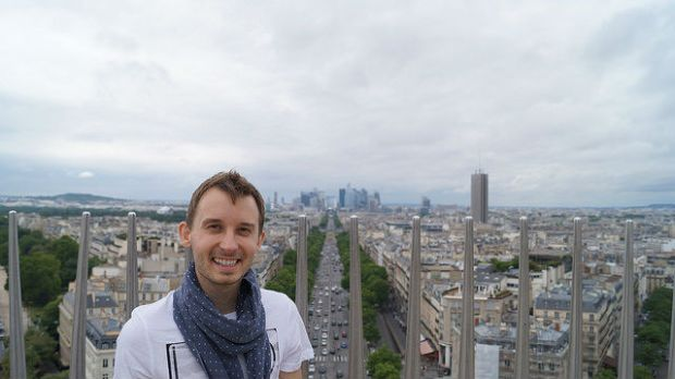 Paris France - Shawn on top of Notre Dame