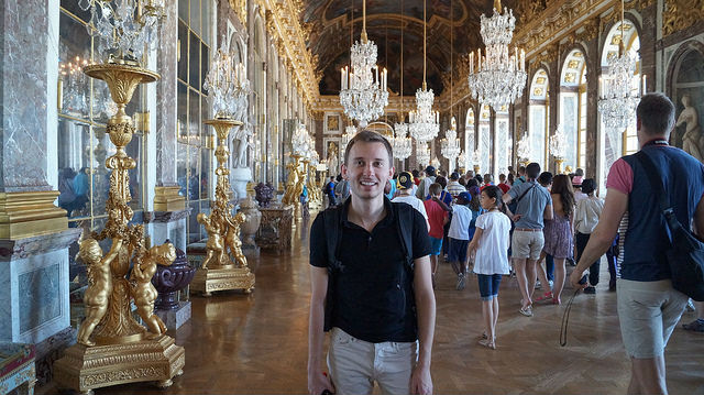 Paris France - Shawn standing in Versailles